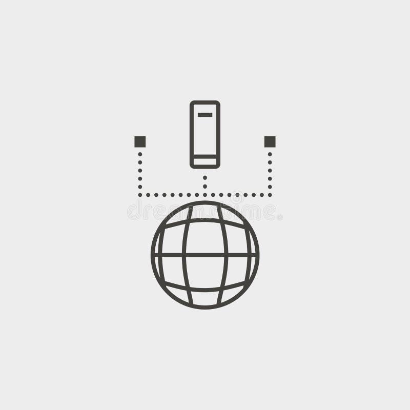 网络,数据库,概述,象 网发展传染媒介象 简单的标志,网络设计,流动应用程序的元素网站的, 皇族释放例证