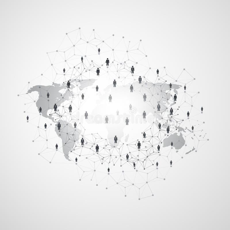 网络-商务联系-社会媒介构思设计 库存例证