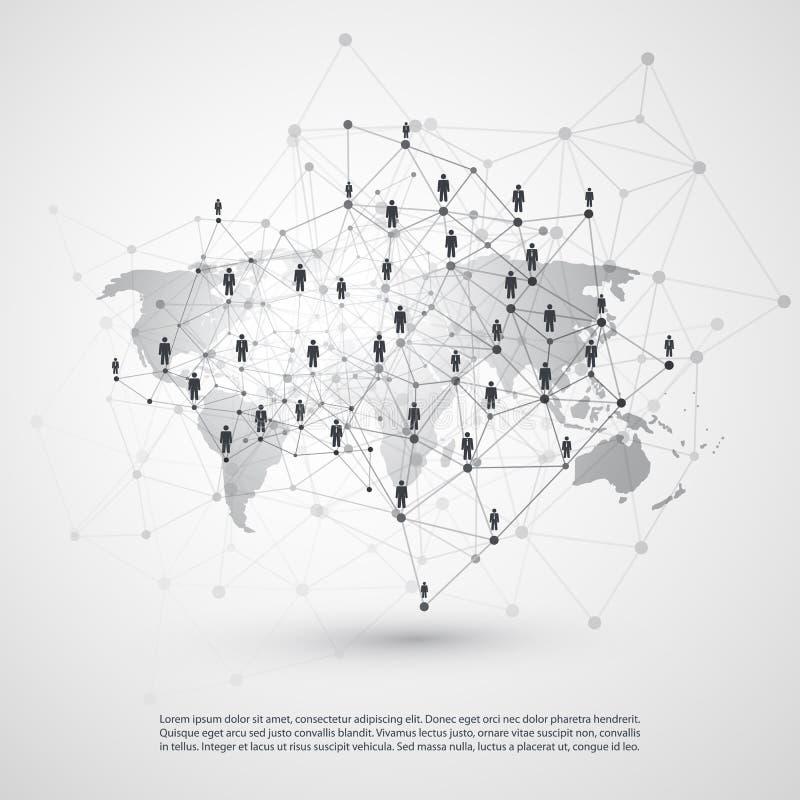 网络-商务联系-社会媒介构思设计 向量例证