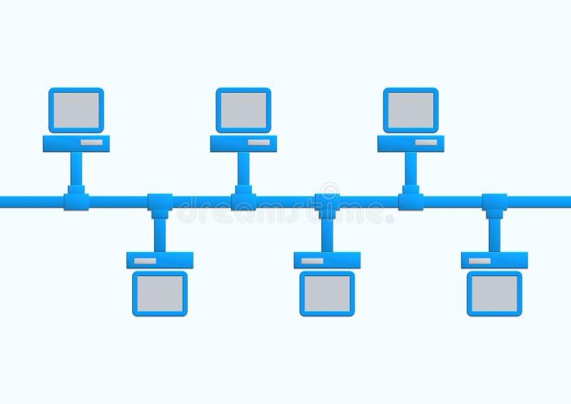 网络 库存例证