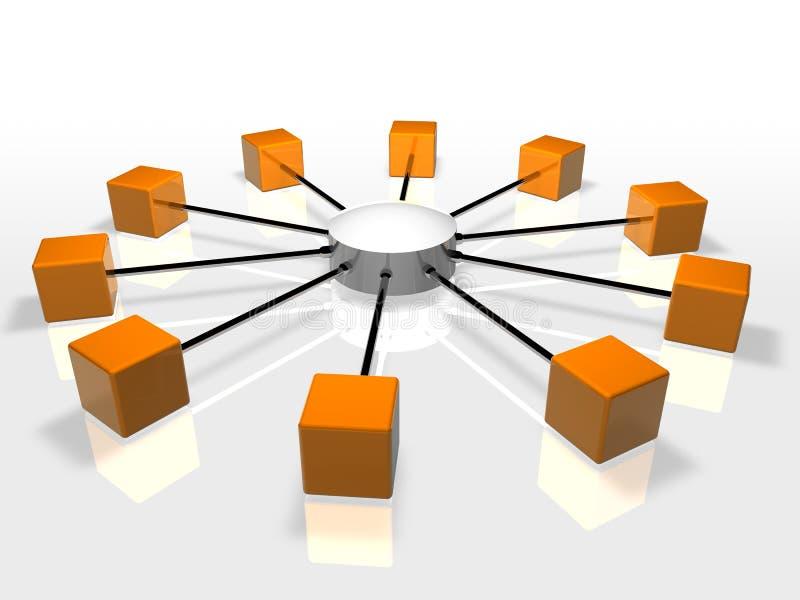 网络 向量例证