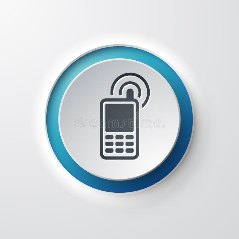 网象按钮手机联络 库存例证