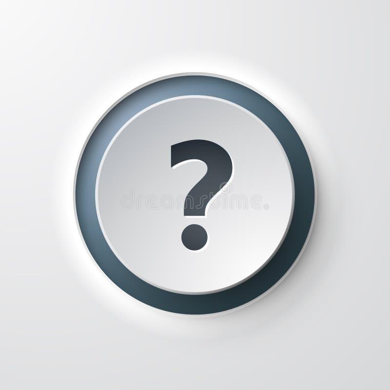 网象按钮操作的问题常见问题解答 库存例证