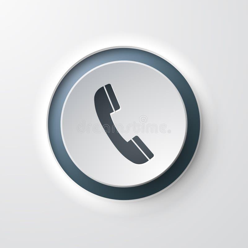 网象按键式电话电话 皇族释放例证