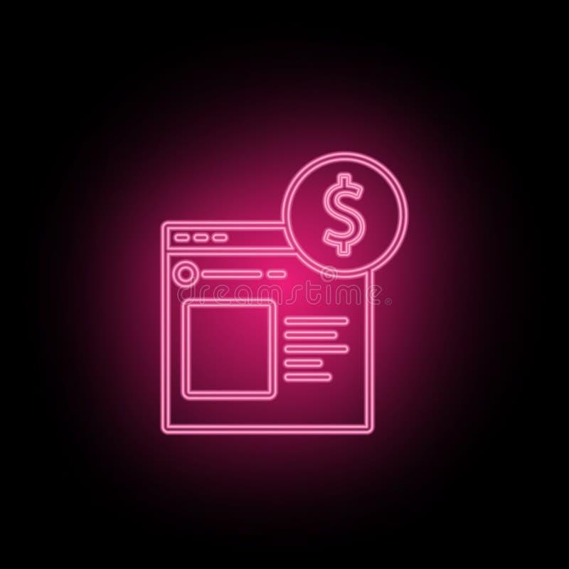 网路银行,moneyneon象可以用于说明关于SEO优化,数据逻辑分析方法,网站performace的题目- 向量例证