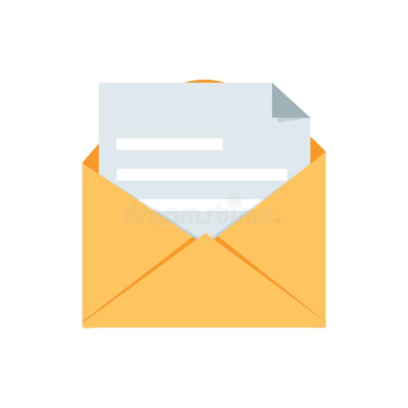 网邮件消息被隔绝的传染媒介邮政消息例证标志 书信按钮签署标志 商业函件 库存例证