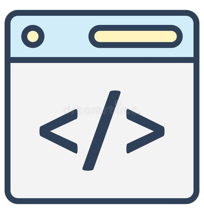 网,可以非常容易地是编辑或修改的发展代码被隔绝的传染媒介象 向量例证