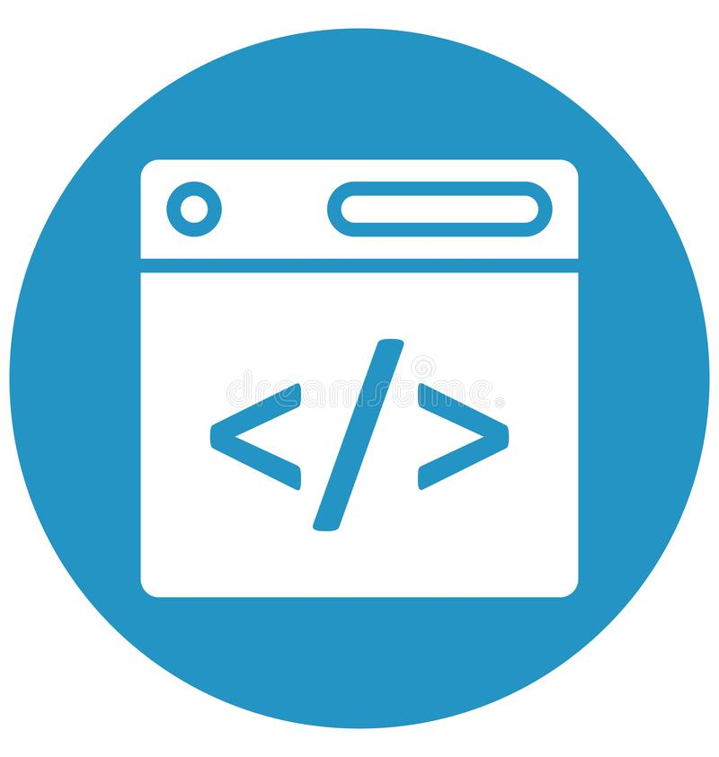网,可以非常容易地是编辑或修改的发展代码被隔绝的传染媒介象 网,发展代码被隔绝的传染媒介象 向量例证