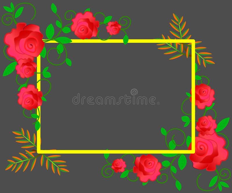 网 婚礼邀请,谢谢卡片,保存与红色,桃红色和白玫瑰的日期卡片 10 eps 皇族释放例证