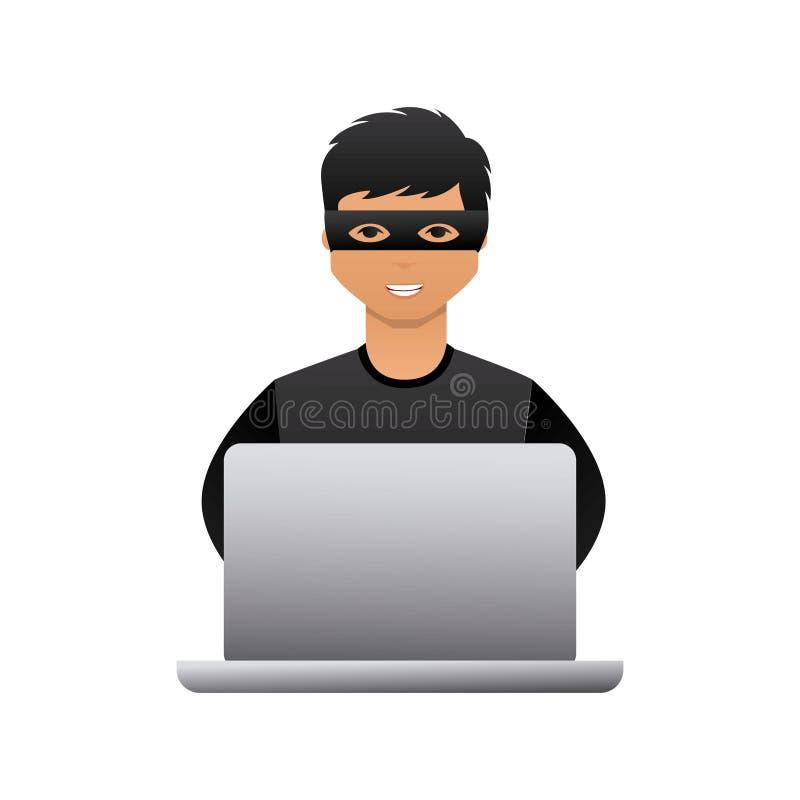 网络安全设计 库存例证