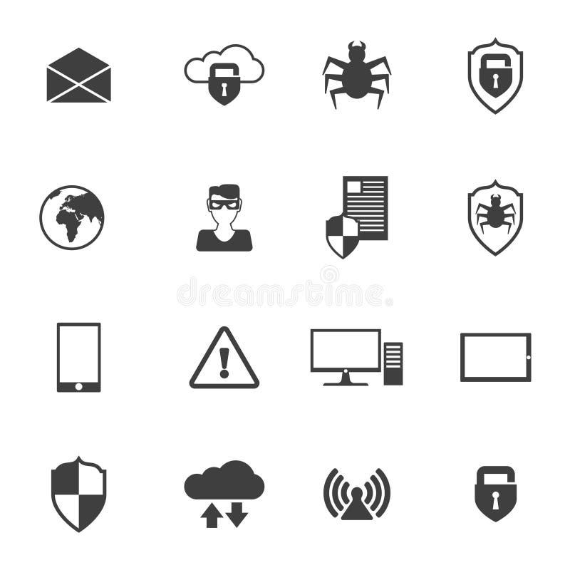 网络安全象 库存例证