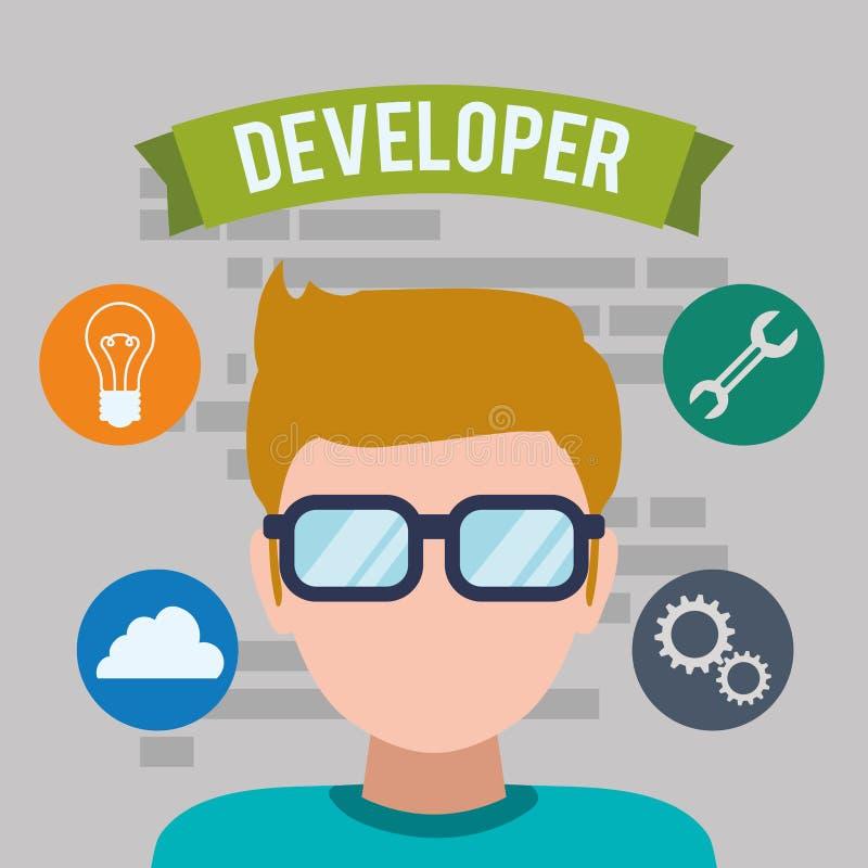网络开发商设计 向量例证