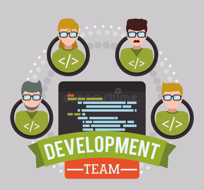 网络开发商设计 库存例证