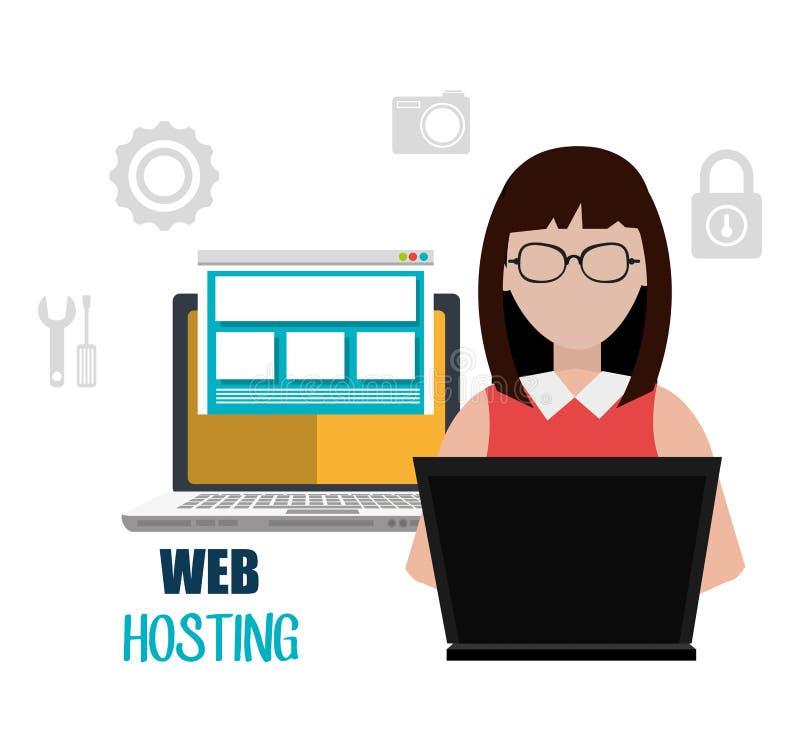 网络主持和设计 向量例证