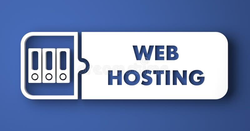 网络主持在平的设计样式的蓝色。 向量例证