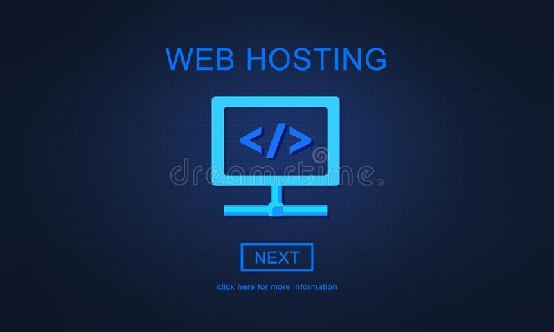网络主持服务器网站用户系统概念 皇族释放例证