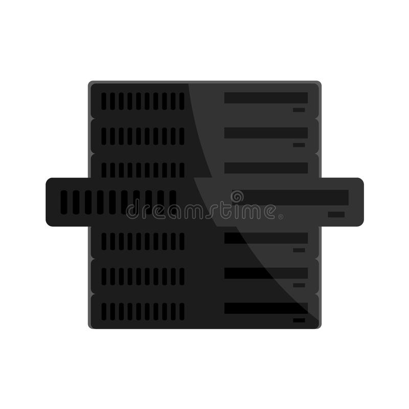 网络主持系列-被隔绝的服务器 向量例证