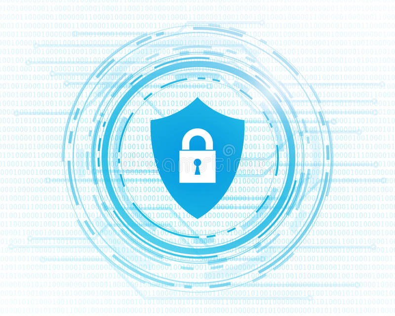 网络数据保密设计 皇族释放例证