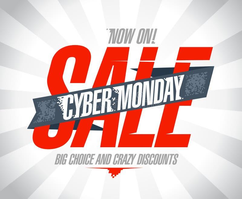 网络星期一销售设计 向量例证