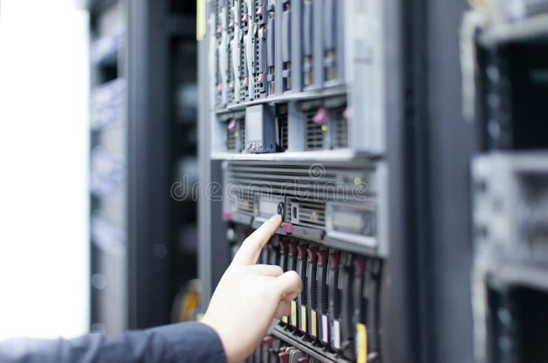 运行的服务器 图库摄影