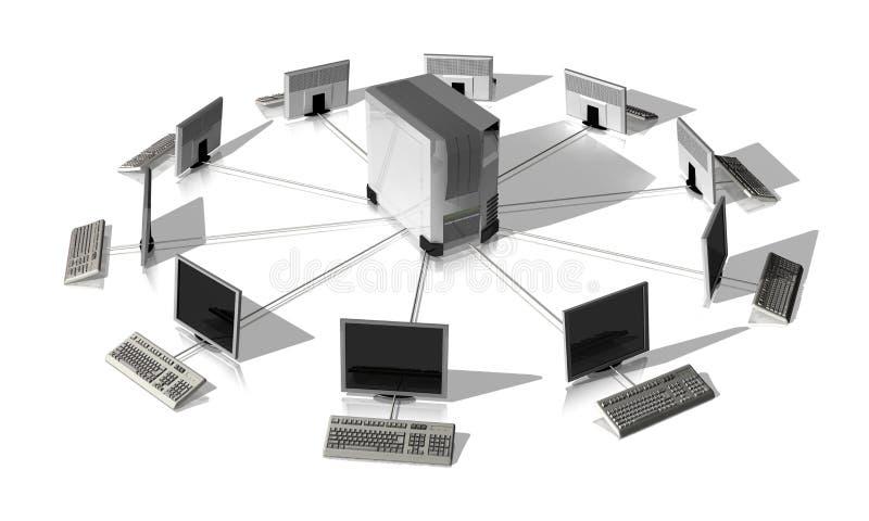 网络服务系统 皇族释放例证