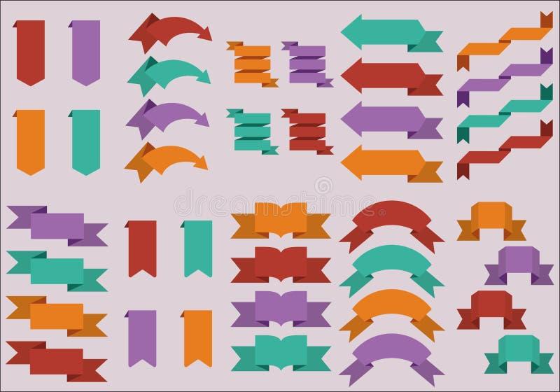 网贴纸平的设计  皇族释放例证