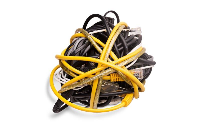 网络缆绳 库存照片