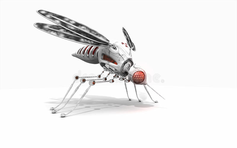 网络蚊子 库存例证