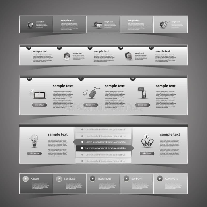 网络设计元素 向量例证