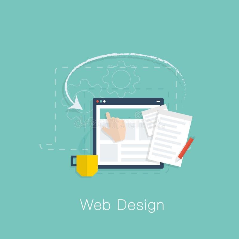 网络设计发展规划平的传染媒介概念 向量例证