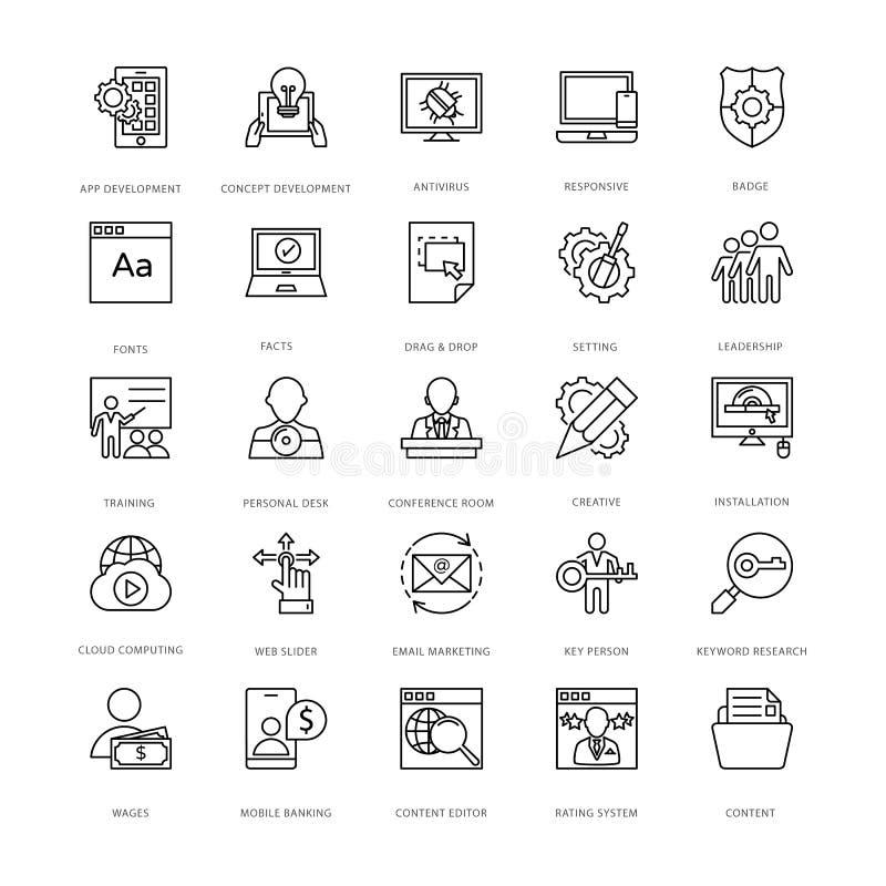 网络设计和发展传染媒介象12 库存例证