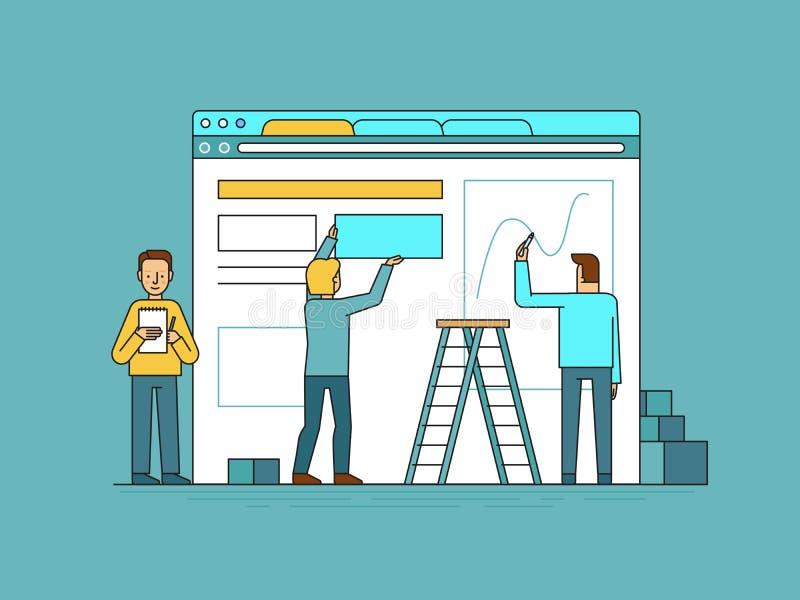 网络设计和用户界面发展概念 皇族释放例证