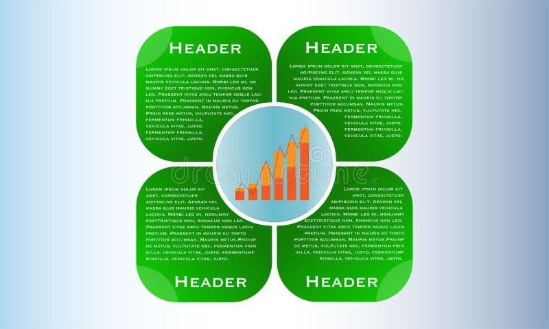 网络设计布局,与专栏图表的企业介绍 库存例证