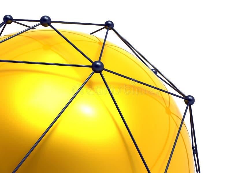 网络连接和互联网concept.3D净额 库存例证