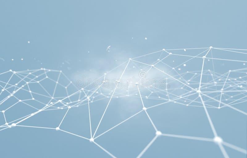 网络连接和互联网concept.3D净额 向量例证