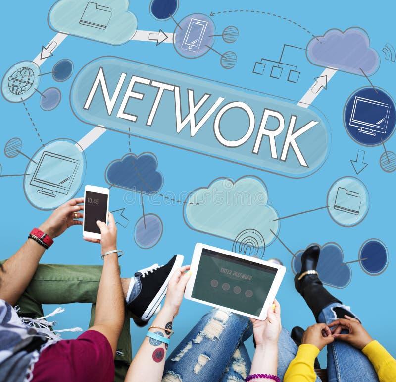 网络通信连接互联网概念 免版税库存照片