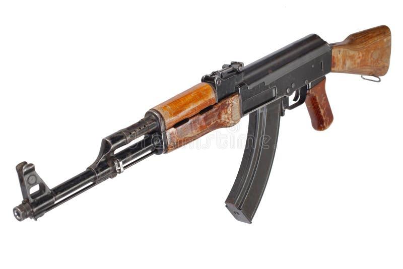 罕见的第一杆式样AK-47攻击步枪 库存图片