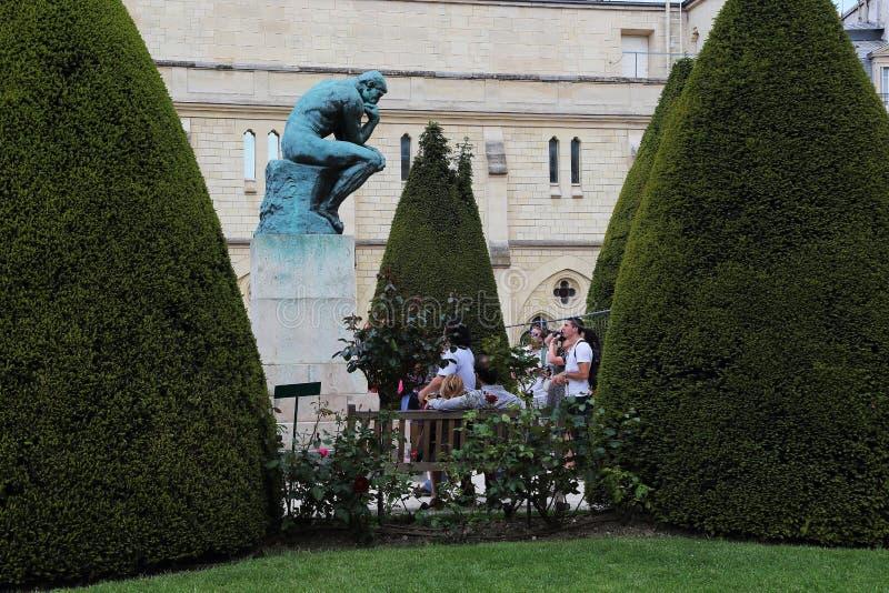 罗丹博物馆在巴黎 免版税库存照片
