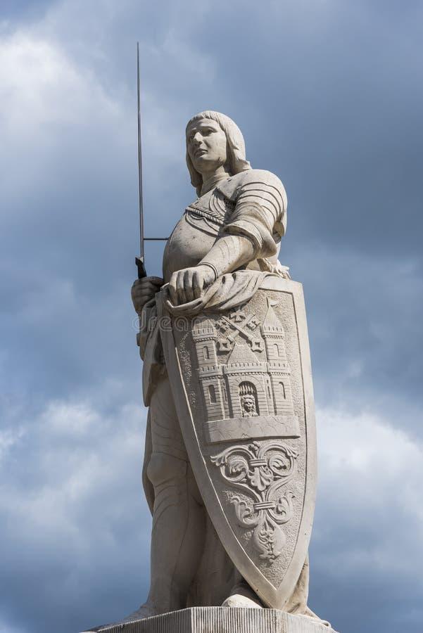罗兰特里加雕象  图库摄影