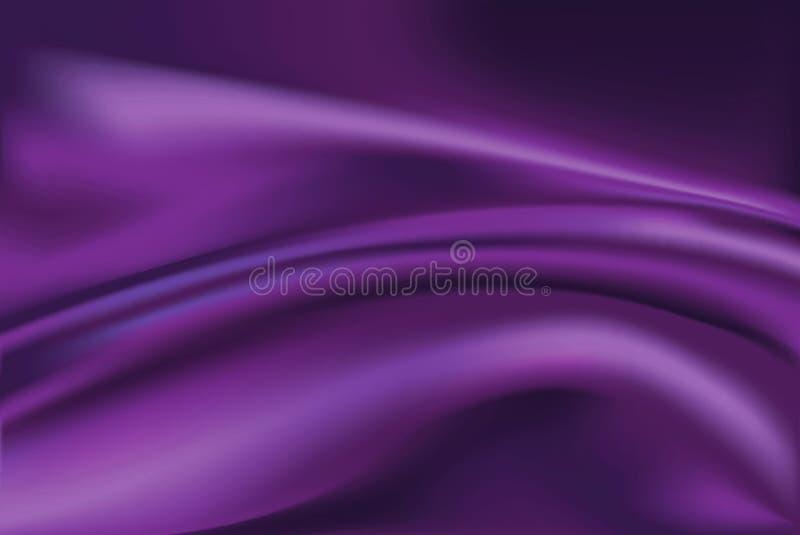 紫罗兰色丝织物背景传染媒介  皇族释放例证