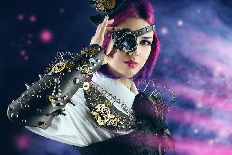 紫罗兰色女孩 库存图片