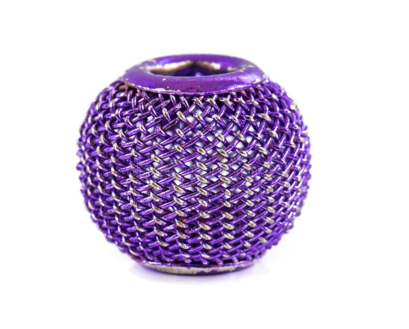 紫罗兰色小珠 免版税库存照片