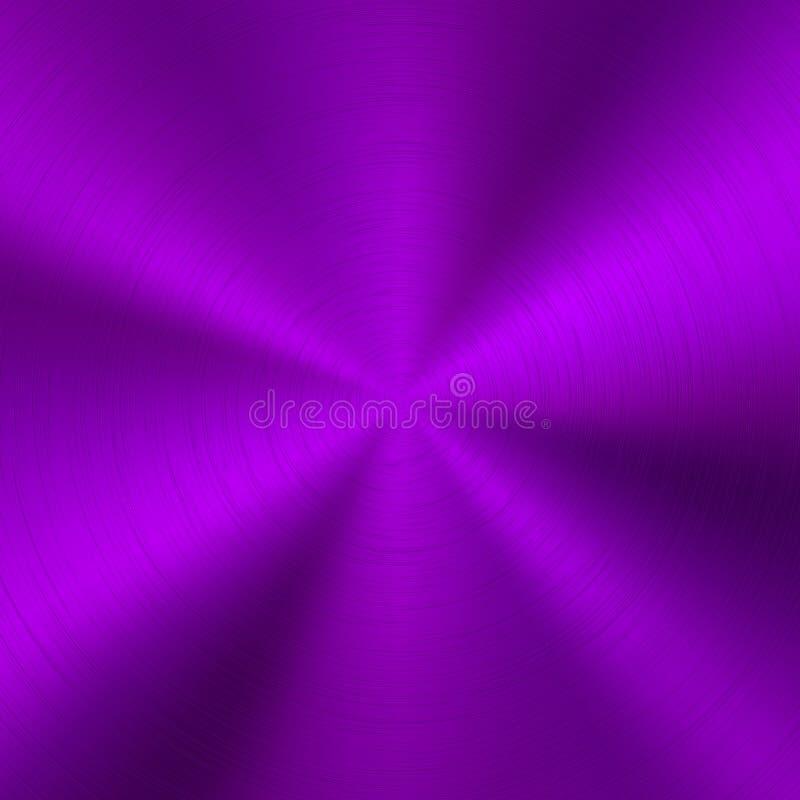 紫罗兰色技术金属背景 皇族释放例证