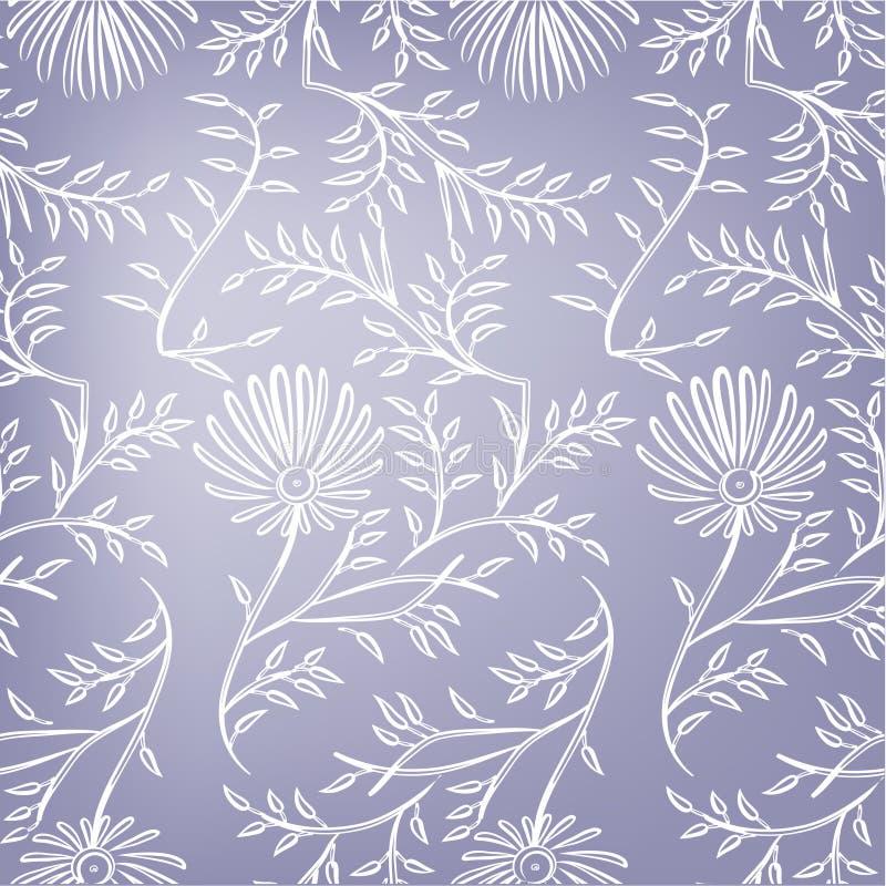 紫罗兰色无缝的花卉背景。传染媒介 库存例证