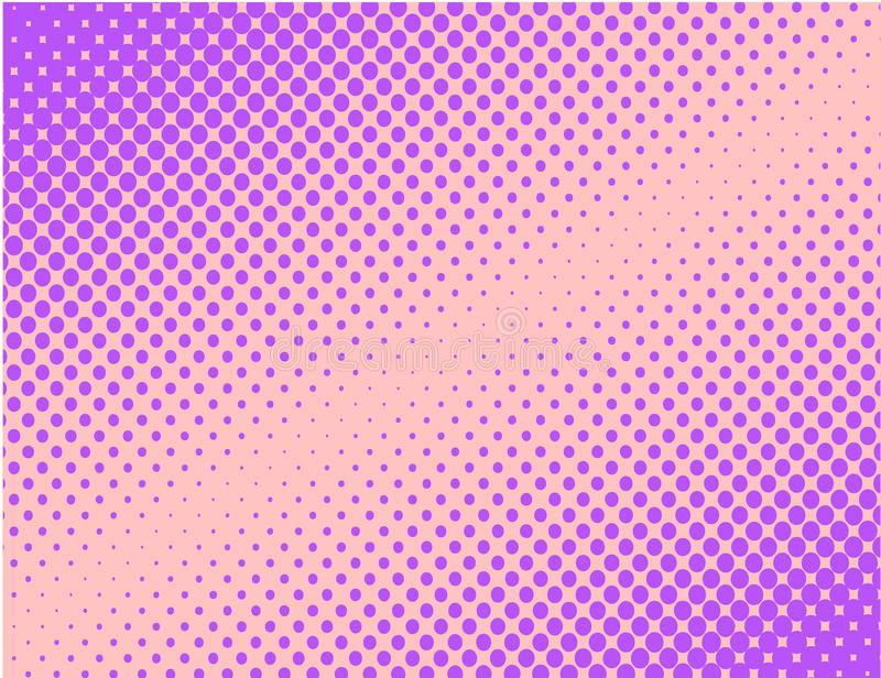 紫罗兰色流行艺术可笑的半音背景传染媒介 向量例证
