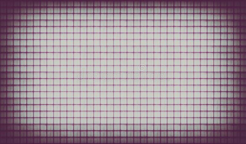 紫罗兰色葡萄酒被排行的纸背景 免版税图库摄影