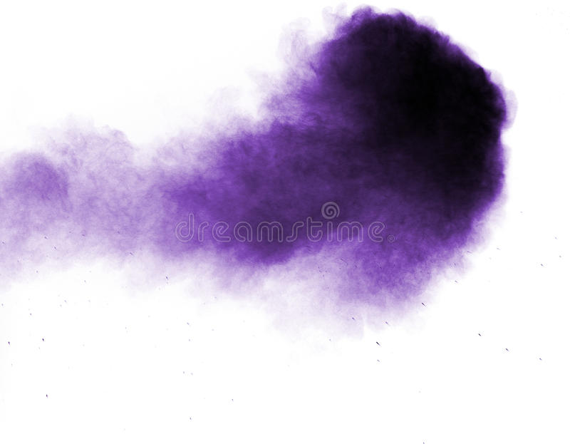 紫罗兰色面粉烟粉末 库存图片