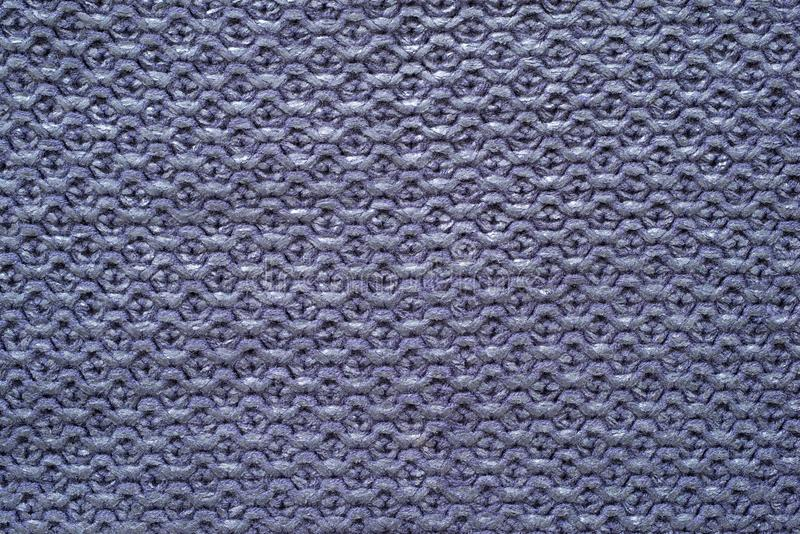 紫罗兰色颜色被编织的多孔的纹理  库存图片