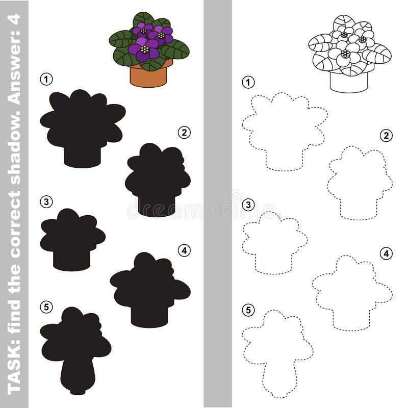 紫罗兰色 发现真实的正确阴影 向量例证