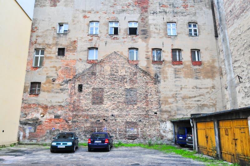 罗兹,波兰,2018年7月 庭院, 库存照片